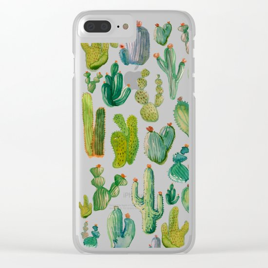 cactus collab Clear iPhone Case