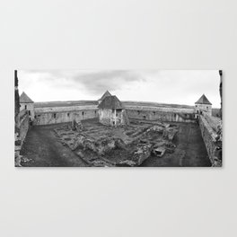 Fortress monastery courtyard Canvas Print