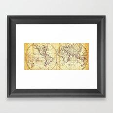 The world in hemispheres 1825 Framed Art Print
