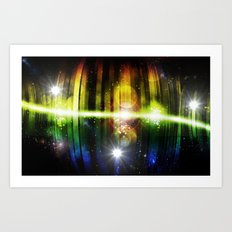 Pulse 1.0 - Pulse was born Art Print
