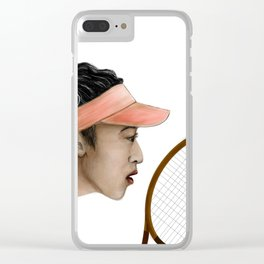 tennis woman Clear iPhone Case