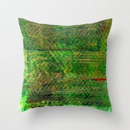Gold caged green Throw Pillow