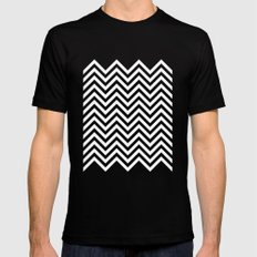 Black Lodge Zig Zag MEDIUM Black Mens Fitted Tee