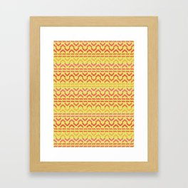 AZTEC pattern 1-1 Framed Art Print