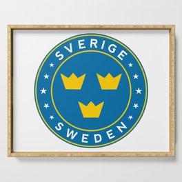 Sweden, Sverige, 3 crowns, circle Serving Tray