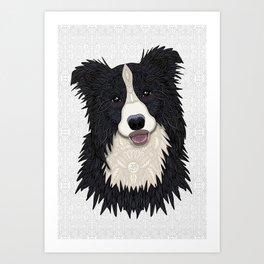 Happy Border Collie Art Print