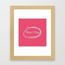 Rest Day Framed Art Print