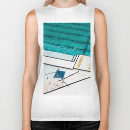 Bondi Icebergs Club III Nautical Geometry Biker Tank