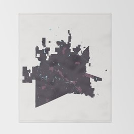 McKinney Texas Minimalist Map (Plum) Throw Blanket