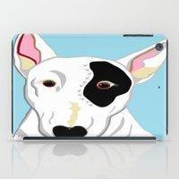 bull terrier iPad Cases featuring Bull Terrier by EloiseArt