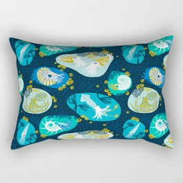 Cephalopods through time Rectangular Pillow