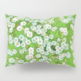 Daisies Painting Pillow Sham