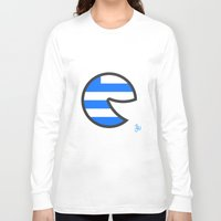 greece Long Sleeve T-shirts featuring Greece Smile by onejyoo