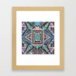 Triangle Mandela Framed Art Print
