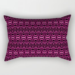 Dividers 07 in Purple over Black Rectangular Pillow