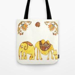 Elefant and Camel Tote Bag