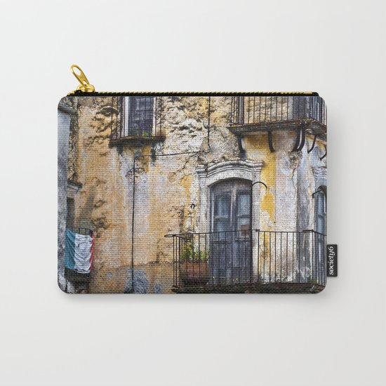 Urban Sicilian Facade Carry-All Pouch