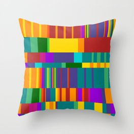 Chopin Prelude (Bright Colours) Throw Pillow