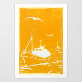 Comrades in Yellow Art Print