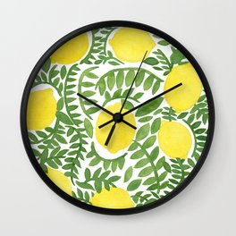 The Fresh Lemon Wall Clock