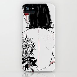 When her petals fall, they hit like bullets. iPhone Case