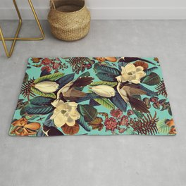 FLORAL AND BIRDS XXI Rug