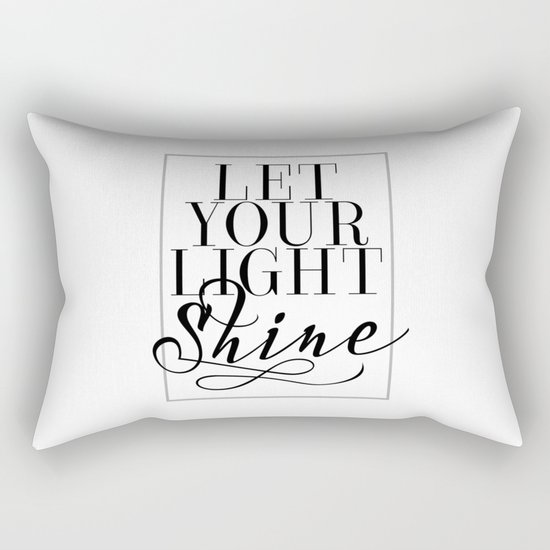 Let Your Light Shine 1 Rectangular Pillow