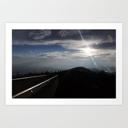 Great Smoky Mountains Clingmans Dome Art Print