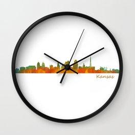 Kansas City Skyline Hq v1 Wall Clock