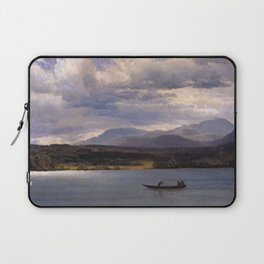 Overlook Mountain From Olana By Albert Bierstadt | Reproduction Painting Laptop Sleeve