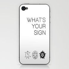 What's your sign? Supernatural edition iPhone & iPod Skin
