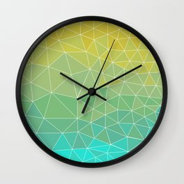 Low poly - 4 Wall Clock