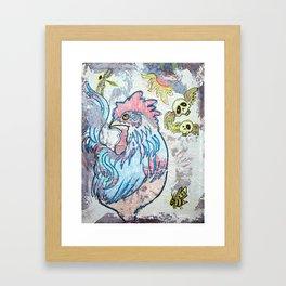 Rooster Road Framed Art Print