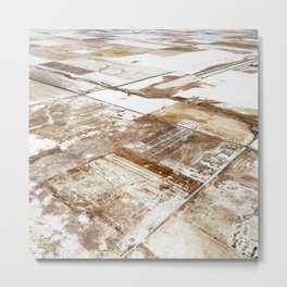 Land of Squares Down There Metal Print