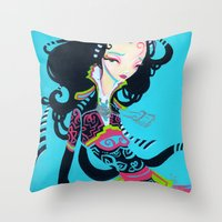 Throw Pillows featuring Kang by Kao Lee Thao @InnerSwirl.com
