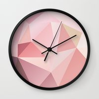 polygon Wall Clocks featuring Polygon  by JBdesign