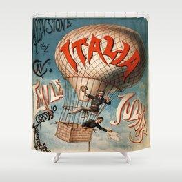 Vintage poster - Italia Shower Curtain