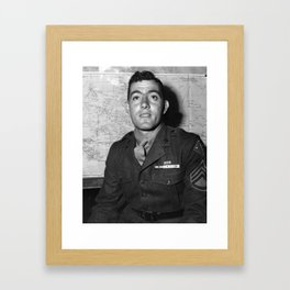 Sergeant John Basilone - World War Two - 1943 Framed Art Print