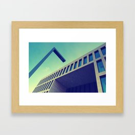 Neo Cubist Architecture Framed Art Print