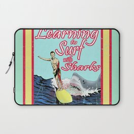 Learning to Surf with Sharks Laptop Sleeve