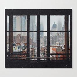 New York City Window Canvas Print