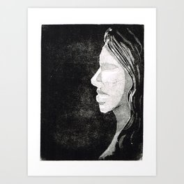 Black and white print Art Print