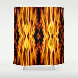 Flame Pattern Fire Astract Shower Curtain