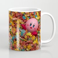 kirby Mugs featuring Kirby Pebbles by Cody Ramsey