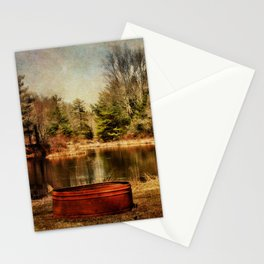 Playing at the Pond Stationery Cards