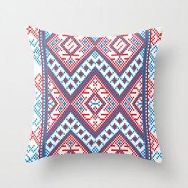 Slavik Cross stitch pattern Throw Pillow
