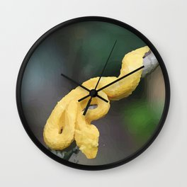 Cesta Rica Yellow poison Snake - Reptiles Wall Clock