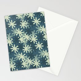Mod Snowflakes Stationery Cards