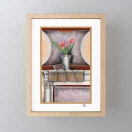 DW-007 Day Lilies With Nautilus Framed Mini Art Print