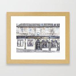 Greyfriars Bobby Pub Snow Framed Art Print